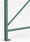 "Teardrop Pallet Rack Upright, 120"" H x 36"" Deep, 3"" x 1-5/8"" Column, Single Upright"