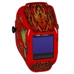Jackson Safety 46119 TrueSight II Digital Variable ADF Welding Helmet - Halo X Flaming Butterfly - With Balder Technology