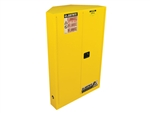 Justrite 894600 Cabinet, Corner 45 Gallon, Manual Closing Doors, Yellow