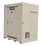 Justrite 911061 Non-Combustible, Outdoor Storage Locker, 6 Drum, Erp