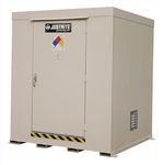 Justrite 911091 Non-Combustible, Outdoor Storage Locker, 9 Drum, Erp