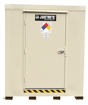 Justrite 912021 Outdoor Storage Locker, 2-Hour Fire Rated, 2 Drum, Erp