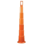 "Cortina 42"" Plain EZ-Grab Channelizer Traffic Safety Cone - Base Not Included"