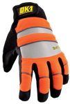 Occunomix OK-IG300-O-SM Waterproof Winter Gloves, Celliant Infrared Fleece, Orange, Size Small, 1 Pair