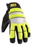 Occunomix OK-IG300-Y-SM Waterproof Winter Gloves, Celliant Infrared Fleece, Yellow, Size Small, 1 Pair