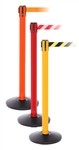 Retracting Belt Barriers - SafetyPro 250 - 1 Post with 13' Yellow & Black Belt, Yellow Pole