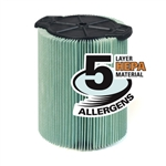 Ridgid 97457 Filter Hepa VF6000, 5-Layer Allergen Filter
