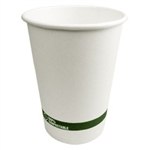 World Centric 32 oz Hot Paper Bowl w/ Bio Lining 500 Per Case