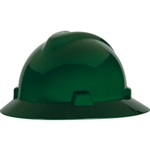 MSA 475370 V-Gard Slotted Hat w/ Fas-Trac Suspension, Green