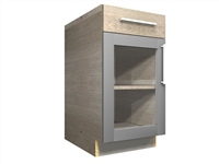 1 GLASS door 1 drawer base cabinet