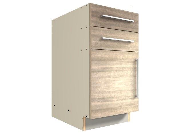 1 door 2 drawer base cabinet