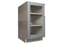 1 GLASS door base cabinet