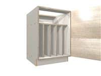 1 door TRAY DIVIDER base cabinet