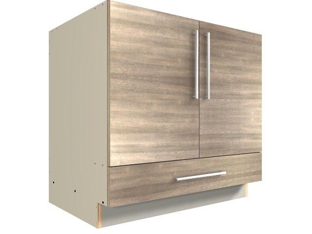 2 Door 1 Drawer Base Cabinet Drawer On Bottom