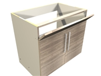 2 door 1 TIP OUT FRONT sink base cabinet