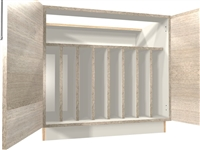 2 door TRAY DIVIDER base cabinet