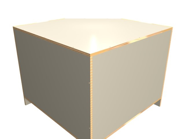 2 door 45 degree base corner cabinet