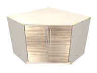 2 door 45 degree base corner SINK cabinet