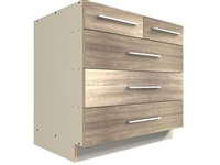 5 drawer split top base cabinet