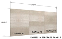 Finished island bar back panel (MULTIPLE PANELS, HORIZONTAL grain)