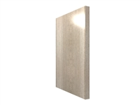 WIDE STILE base finished end panel (VERTICAL grain)