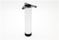 "9"" tall Exposed Leveling Foot-matte aluminum"