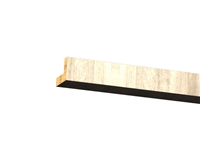 Two piece flat crown molding (VERTICAL grain)