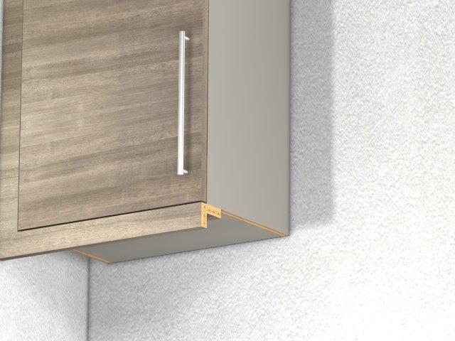 Two Piece Under Cabinet Light Valance Horizontal Grain