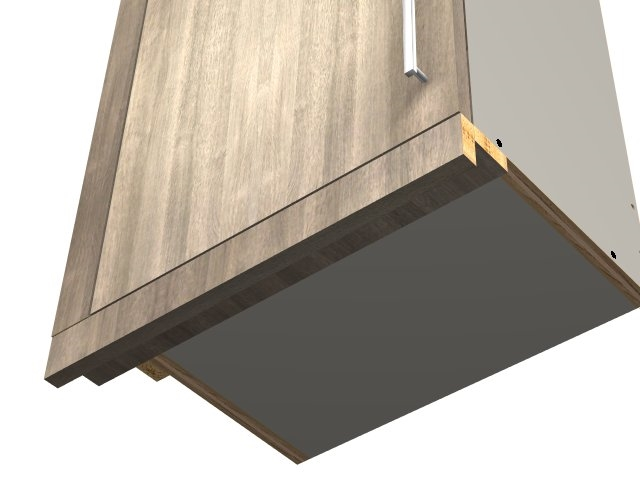 Two piece under cabinet light valance (VERTICAL grain)