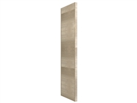 "WIDE STILE Tall finished end panel (HORIZONTAL grain- UNDER 80"" HEIGHT)"