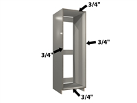 0 door refrigerator enclosure (fully integrated refrigerators)