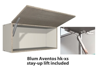 1 door FLIP UP wall cabinet (INCLUDES 1 X AVENTOS HK-XS STAY-UP ARM)