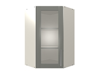 1 GLASS door wall 45 cabinet (GREY INTERIOR)