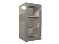 1 glass door wall closet cabinet (TEXTURED INTERIOR)