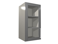 1 glass door wall closet cabinet (GREY INTERIOR)