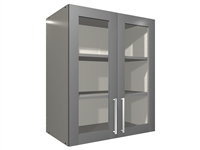 2 glass door wall closet cabinet (GREY INTERIOR)