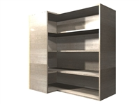 90 degree CORNER adjustable shelf wall cabinet (LEFT side return)
