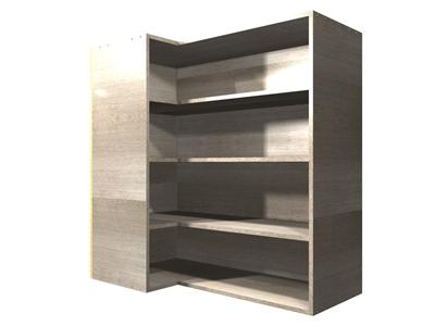 90 Degree Corner Adjustable Shelf Wall Cabinet Left Side
