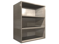 Open wall cabinet with adjustable shelving