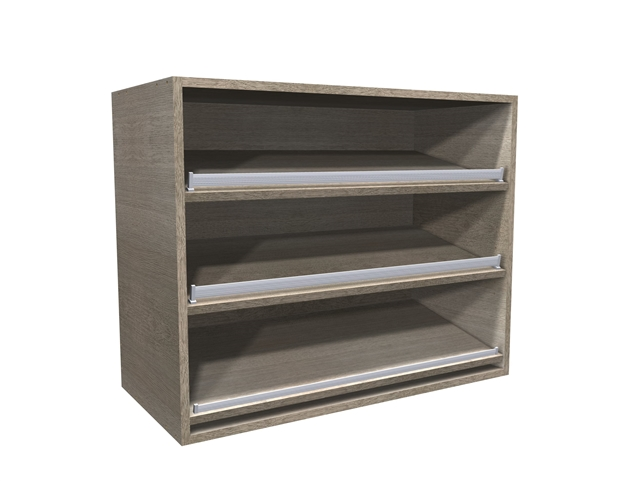 Open Wall Cabinet With Angled Shoe Shelves (shelves Are Pre Drilled, Shoe  Fence Included)