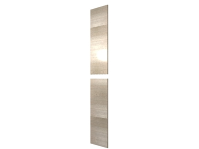 "Two piece closet finished end panel (HORIZONTAL grain - OVER 80"" HEIGHT)"