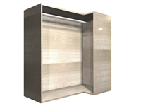 90 degree CORNER hanging rod wall cabinet (RIGHT side return)