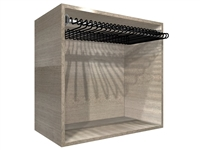 "Closet Pants Pullout Rack Cabinet (30"" wide hamper, 31.50"" wide cabinet)"