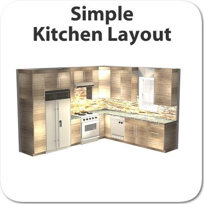 Simple Kitchen Layout kitchen layout