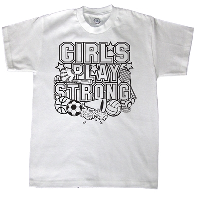 Girls Play Strong Tee