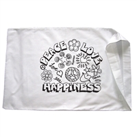 Peace Love and Happiness Pillowcase