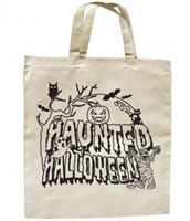 Haunted Halloween Tote Bag