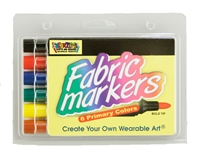 Fabric Markers Economy Pack - Primary