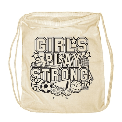 Girls Play Strong Backpack