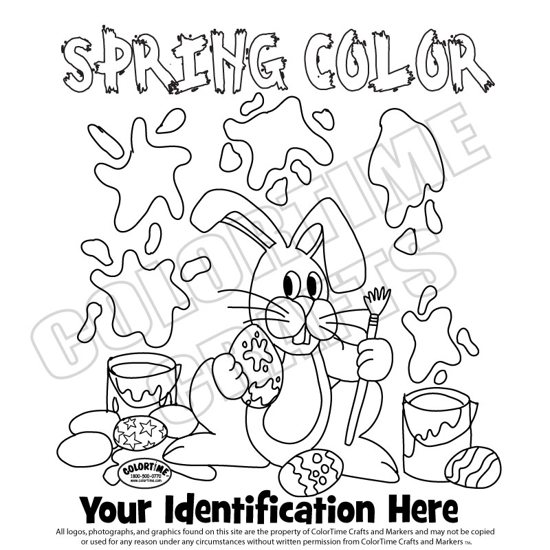 easter 2 spring color - Spring Coloring Pictures 2